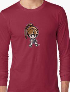 Martial Arts/Karate Girl - Front punch Long Sleeve T-Shirt