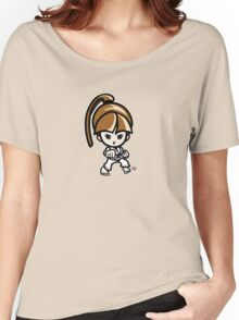 Martial Arts/Karate Girl - Front punch Women's Relaxed Fit T-Shirt