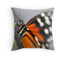 Having lunch butterfly style Throw Pillow