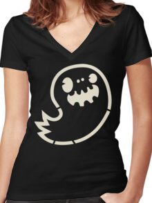 Ghost Boy Stencil Women's Fitted V-Neck T-Shirt