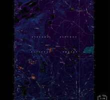 USGS Topo Map Washington State WA Green Mountain 241409 1970 24000 Inverted by wetdryvac