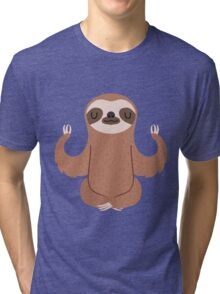 Sloth doing yoga Tri-blend T-Shirt
