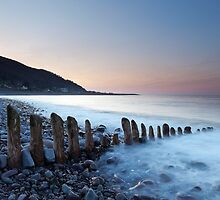 Porlock Groyne Sunset by kernuak
