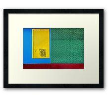 Rainbow Wall Framed Print