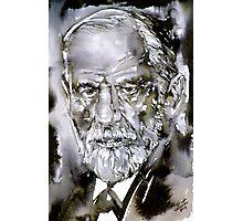 SIGMUND FREUD - watercolor portrait.7 Photographic Print