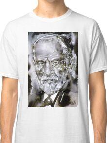 SIGMUND FREUD - watercolor portrait.7 Classic T-Shirt