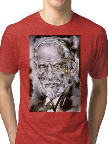 SIGMUND FREUD - watercolor portrait.7 Tri-blend T-Shirt