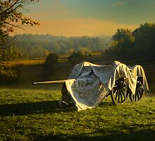 Covered Civil War canon and limber by woodnimages