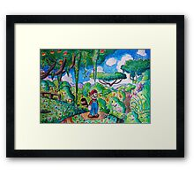 Raccoon Mario Watercolor Framed Print