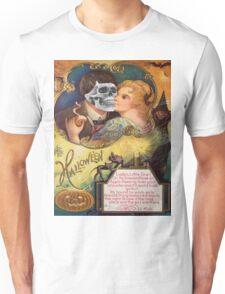 Embracing Death (Vintage Halloween Card) Unisex T-Shirt