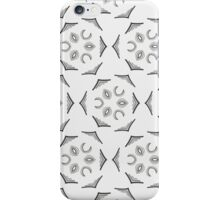 Geometric abstract pattern in grey  iPhone Case/Skin