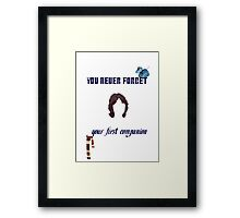 Your First Companion Framed Print
