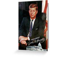 President John F. Kennedy Vintage Postcard Greeting Card