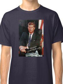 President John F. Kennedy Vintage Postcard Classic T-Shirt