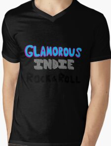 Glamorous Indie Rock & Roll Mens V-Neck T-Shirt