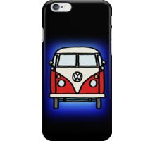 Red White Campervan iPhone Case/Skin