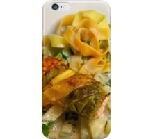 Pasta Roulette Tricolore with Salm and Kohlrabi Sticks iPhone Case/Skin