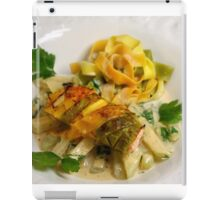 Pasta Roulette Tricolore with Salm and Kohlrabi Sticks iPad Case/Skin