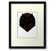 Mass Effect - SPECTRE (Red) Framed Print