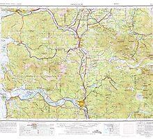 USGS Topo Map Washington State WA Hoquiam 239710 1958 250000 by wetdryvac
