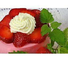 Strawberry Yoghurt Dessert Photographic Print
