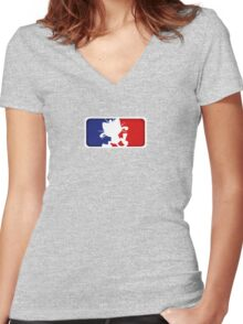 Major League Meowth Women's Fitted V-Neck T-Shirt