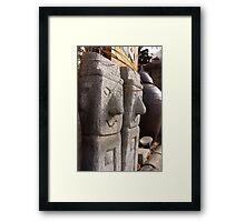 Korean Statues Framed Print