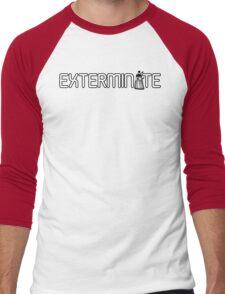 Exterminate (White Variant) Men's Baseball ¾ T-Shirt