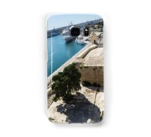 Valletta Grand Harbour - High Noon Shadows and Cruise Ships Samsung Galaxy Case/Skin