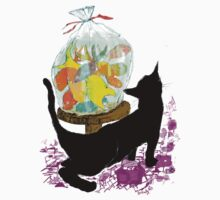 Cat and goldfish by Initially NO