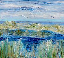 Salt marshes - Acrylic on canvas by Regina Valluzzi