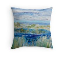 Salt marshes - Acrylic on canvas Throw Pillow