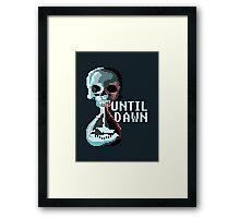 8-bit Until Dawn Framed Print