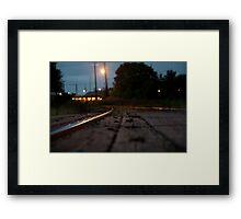 Railroad Tracks Raleigh NC Framed Print