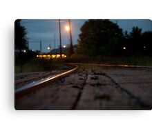 Railroad Tracks Raleigh NC Canvas Print
