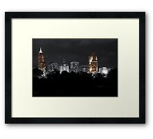 Downtown Raleigh NC Framed Print