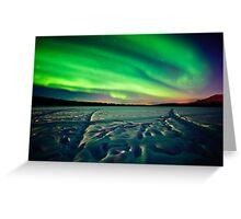 Beach Lake Aurora Greeting Card