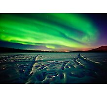 Beach Lake Aurora Photographic Print