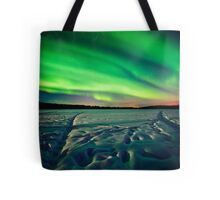 Beach Lake Aurora Tote Bag