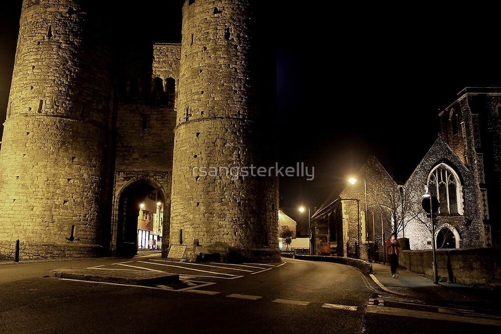 West Gate By Moonlight by rsangsterkelly