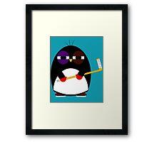 Hockey penguin Framed Print