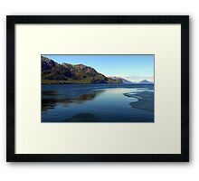 Mountains and Sea in the Chilean Fjords Framed Print