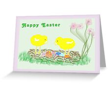 Easter Card Two Chicks Greeting Card