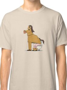 Horse on Toilet Classic T-Shirt