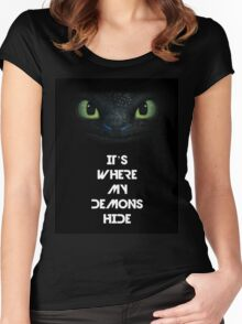 Imagine Dragons - Toothless Women's Fitted Scoop T-Shirt