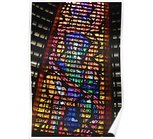 Glass Detail, Roman Catholic Cathedral of Saint Sebastian, Rio de Janeiro, Brazil Poster
