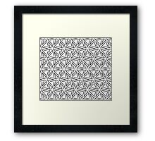 Geometric pattern in grey and black Framed Print