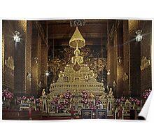 Wat Pho buddha temple bangkok  Poster