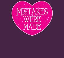 Mistakes were made (pink heart) Womens Fitted T-Shirt