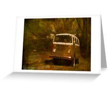 VW Van Greeting Card